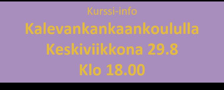 Kurssi-info